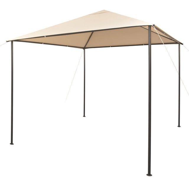 Foișor pavilion cort, baldachin, 3x3 m oțel, bej foto mare