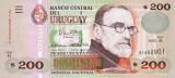 URUGUAY █ bancnota █ 200 Pesos Uruguayos █ 2000 █ P-77b █ UNC █ necirculata
