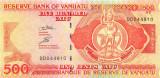 VANUATU █ bancnota █ 500 Vatu █ 2011 █ P-5c █ Serie DD █ UNC █ necirculata