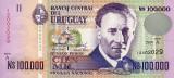 URUGUAY █ bancnota █ 100000 Nuevos Pesos █ 1991 █ P-71 █ UNC █ necirculata