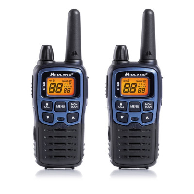 Resigilat : Statie radio PMR/LPD portabila Midland XT60 set cu 2 buc. albastru met foto