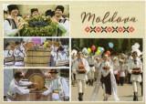 Moldova 2018, Costume populare, carte postala
