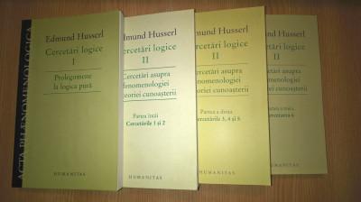 Edmund Husserl - Cercetari logice (4 vol.), (Editura Humanitas, 2007-2013) foto