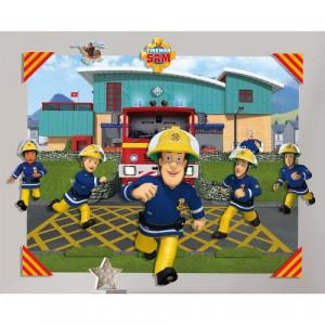 Tapet 3D pentru Copii Pompierul Sam - VV25616