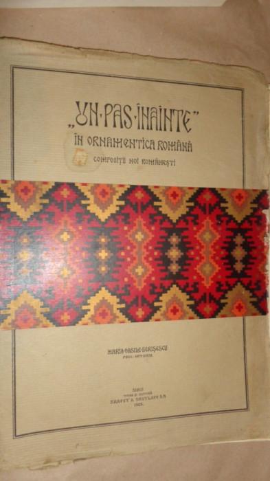 Un pas inainte in ornamentica romana 20planse /an 1929- Maria Vasile Herisescu