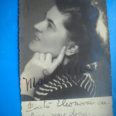 HOPCT 172 U  MADELEINE PORTRET PROFIL /FOTO LUX 1940 -FOTOGRAFIE VECHE TIP CP