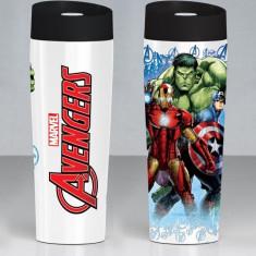 Cana termos Marvel, 35613, 400ml, Heroes, Multicolor