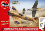 Kit Constructie Avioane Supermarine Spitfire Mk. Vb Si Messerschmitt Bf109e-7, Airfix