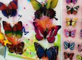 Fluturi 3D mici cu clips