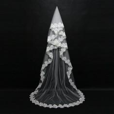 Voal de mireasa superb lungime 2,5 m alb nou model deosebit