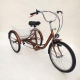 Tricicleta adulti tip shopper shimano 24 toli(inch) 6 viteze - NOUA, 17.5