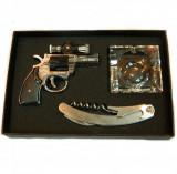 Set cadou cu pistol-bricheta si laser