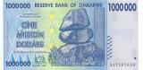 ZIMBABWE █ bancnota █ 1000000 1.000.000 Dollars █ 2008 █ P-77 █ UNC necirculata