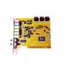 Placa de Sunet Sound Blaster VIA Canale 7.1 24-Bit pana la 192 KHz, PCI