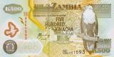 ZAMBIA █ bancnota █ 500 Kwacha █ 2009 █ P-43g █ POLYMER █ UNC █ necirculata