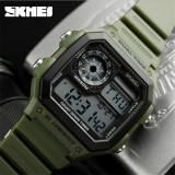Ceas Military SKMEI , cronograf, data, waterproof 50M inot army green, Lux - sport, Quartz, Plastic