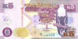 ZAMBIA █ bancnota █ 5 Kwacha █ 2012 █ P-50a █ UNC █ necirculata