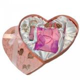 Set cadou dama cu accesorii Inima Roz