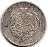 * Moneda 1 leu 1900 - 401, Argint