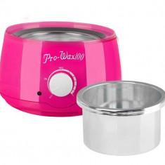 Incalzitor ceara traditionala sau parafina, 400 ml, decantor ProWax roz
