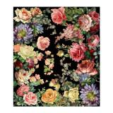 Covor ecologic pentru camera, CASA di Bassi, doua culori - alb/negru, model floral, 764272429470