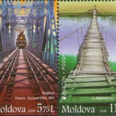 MOLDOVA 2018, EUROPA CEPT, Poduri, serie neuzata, MNH