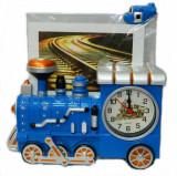 Ceas Locomotiva 3D cu Rama Foto