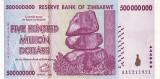 ZIMBABWE █ bancnota █ 500.000.000 Dollars █ 2008 █ P-82 █ UNC █ necirculata