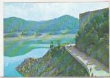 Bnk cp Jud Arges - Lacul Vidraru - uzata - marca fixa, Circulata, Printata