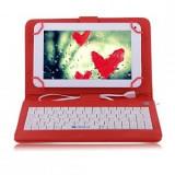 Husa Tableta 8 Inch Cu Tastatura si Micro Usb