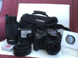 Canon EOS 550D KIT\Obiective Vivitar 28 mm + Soligor 80 - 200 mm\+alte accesorii
