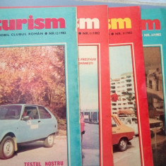 LOT 4 REVISTE AUTOTURISM nr 8,9,11,12 din anul 1982