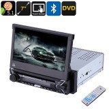 "Media Player 7"" retractabil cu touchscreen DVD, MP3, MP4, bluetooth, 1DIN, 9505"