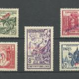 INDIA - ( COLONIE  FRANCEZA )  SUPRATIPARE  1941   SERIE COMPLETA   MH, Nestampilat