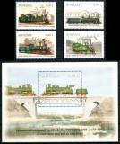 Romania 2011, LP 1912 + 1913, Locomotive, serie + colita, MNH! LP 31,10 lei