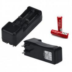 Incarcator DUAL pt acumulator , baterie reincarcabila 3.7V 600mA Li-ion
