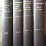 Alexandru Marghiloman-Note politice-5 volume legate-1927