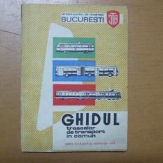 Bucuresti Ghidul traseelor de transport in comun 1973