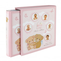 Album foto Newborn Girl, personalizabil, cutie, 10x15, 200 poze, roz