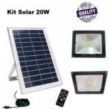 Kit Proiector LED 20 W si Panou Solar 10W