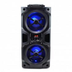 Boxa Portabila Activa bluetooth, cu led-uri si USB/SD CARD, RADIO FM WKS-101