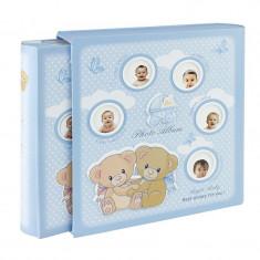 Album foto Newborn Boy, cutie personalizabila, 10x15, 200 poze, albastru