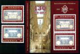 Romania 2010, LP 1877 + a, BNR 130 de ani, serie + bloc de 2, MNH! LP 16,42 lei, Istorie, Nestampilat