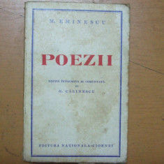 Mihai Eminescu Poezii editie G. Calinescu