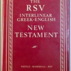 Noul Testament editie juxtalineara greaca-engleza /ed. Alfred Marshall