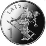 SV * Letonia  ( Rep. Latvijas )  1  LATS  2008   < COSAR >    AUNC + / UNC, Europa, Nichel