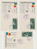 Romania 3 FDC Exil 1962 Jocuri Atletism supratipar set nedantelat Olimpiada Roma