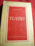 Aurel Baranga- Teatru -Ed. ESPLA 1953 ,cu fotogr.si autograf tiparite , 396 pag