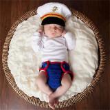 Costum bebelusi crosetat captain America/Mario//Marinar sedinte foto- botez
