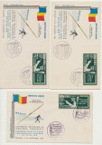 Romania 3 FDC Exil 1962 Jocuri Atletism supratipar set dantelat Olimpiada Roma